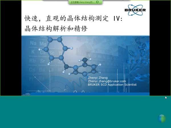 快速,直观的晶体结构测定 IV:  晶体结构解析和精修